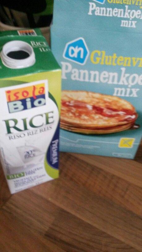 Koemelk en glutenvrije pannenkoeken