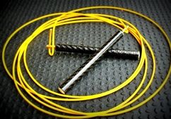 """Momentum Speed Rope. For the Crossfitter or any athlete looking for a durable, adjustable speed rope. All ropes come with a carbon fiber handle and a 10' cable that you adjust to your perfect length.  Brought to you by Momentum with """"Crossfit gear for the insane."""""""