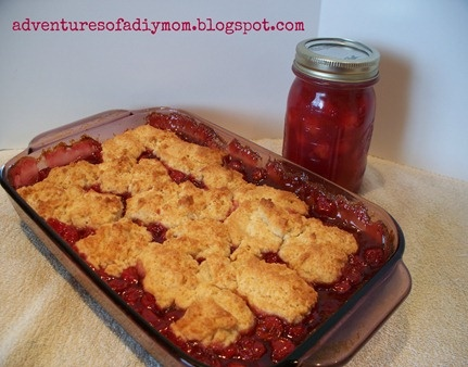 Cherry Cobbler and Cherry Pie FIlling | cooking | Pinterest
