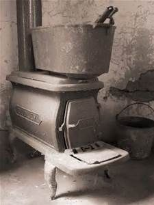 Old And Oversized Furnace Wood Stove.