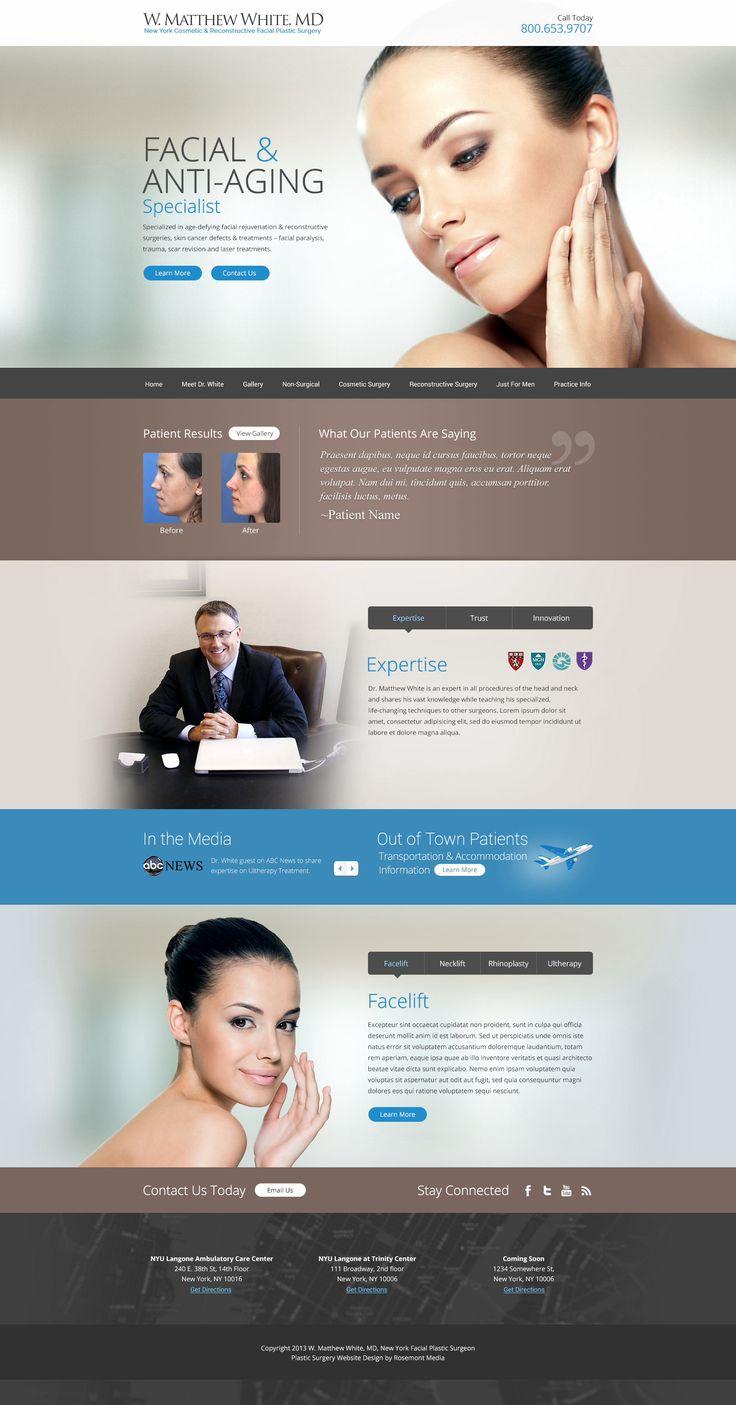 Plastic surgery website design                                                                                                                                                                                 Más