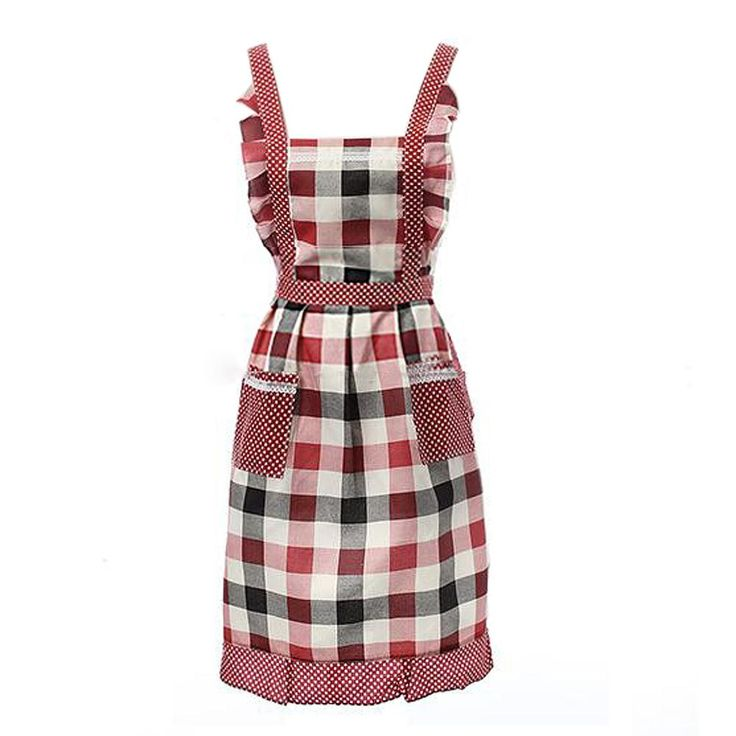[Visit to Buy] Ireland Plaid Adjustable Apron Bib Uniform With 2 Pockets Hairdresser Kit Salon Hair Tool Chef Waiter Kitchen Cook Tool #Advertisement
