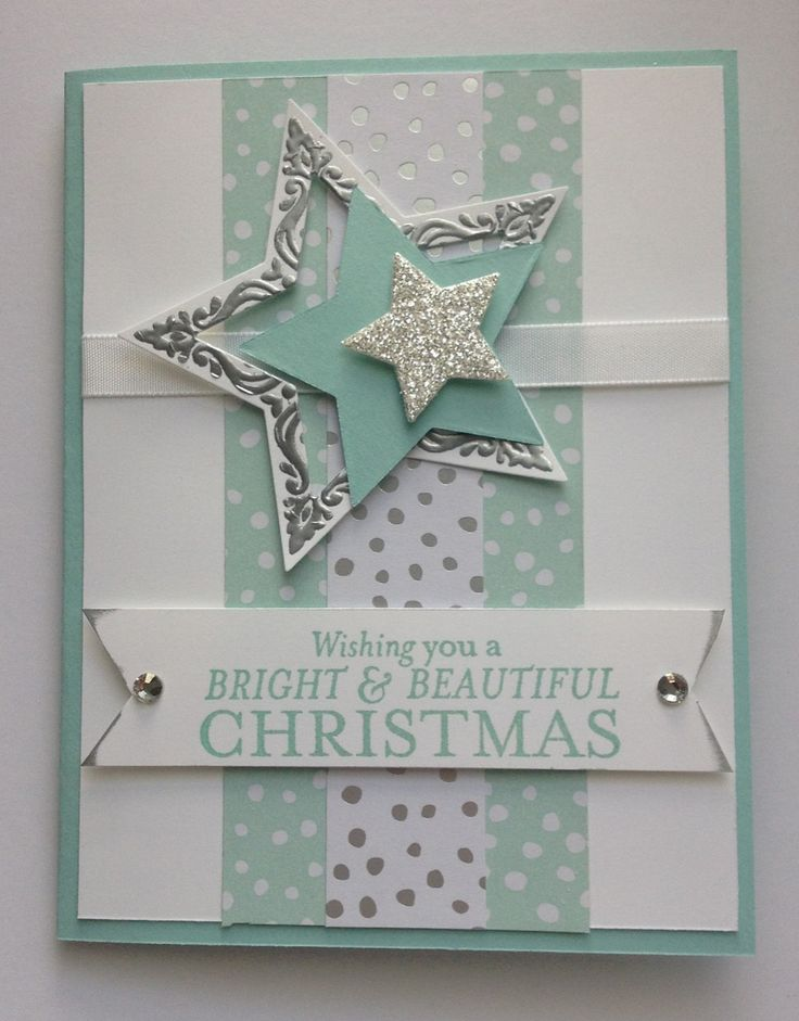 Christmas Card Making Ideas Stampin Up Part - 17: Midnight Crafting: Bright And Beautiful All Is Calm November Stars # Cardmaking #stampinup #
