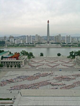 North Korea - Juche Tower & Kim Il Sung Square