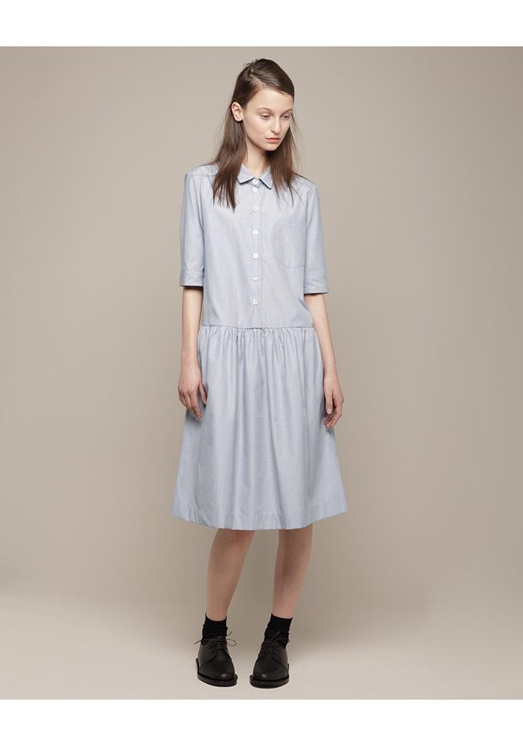 MARGARET HOWELL /  DROP WAIST SHIFT DRESS