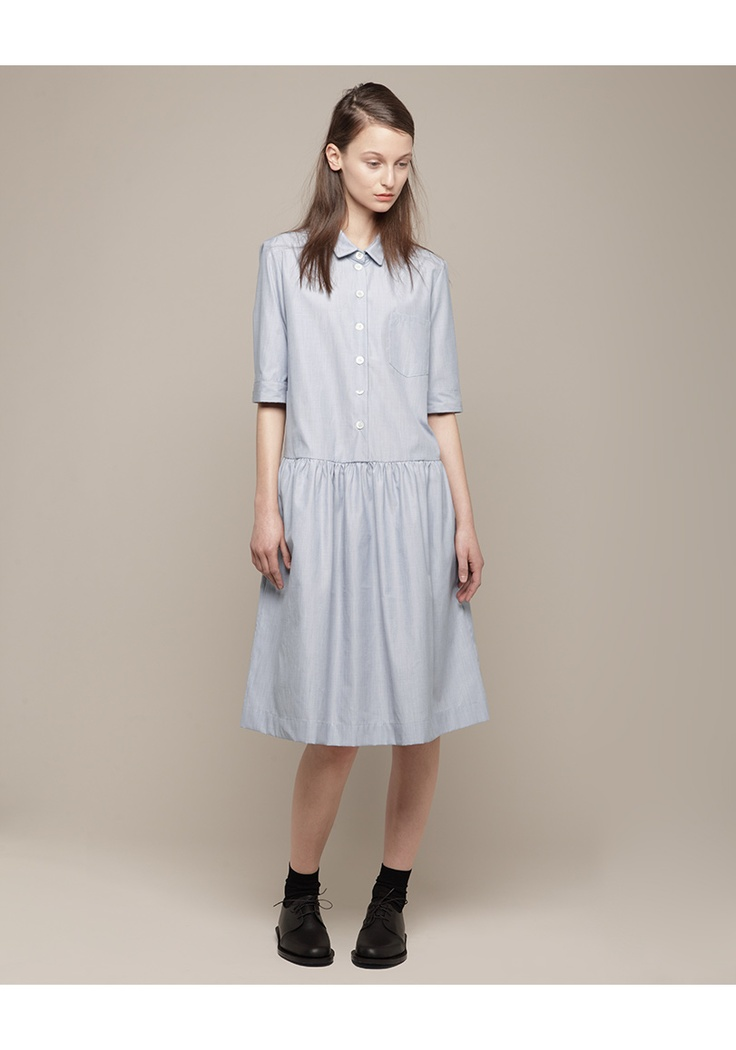 MARGARET HOWELL /  DROP WAIST SHIFT DRESS