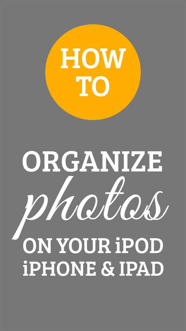 There are several ways to organize your photos. Some of you may choose to  use an app like DropBox, some may use iPhoto for Mac, or perhaps just the  standard folder system on your computer. There are many ways to organize  them after you transfer them to your computer, but what if you want to  organize your photos directly in your iPhone prior to transferring them?  Here are some easy steps on how to create a folder for your photos and how  you can move them to the new folder:     1. On ...