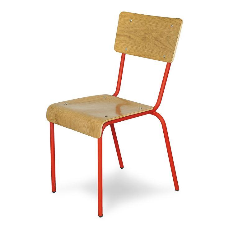 Chaise style écolier rouge H73cm Rouge - Ikon - Chaises - Tables et chaises - Salon et salle à manger - Décoration d'intérieur - Alinéa