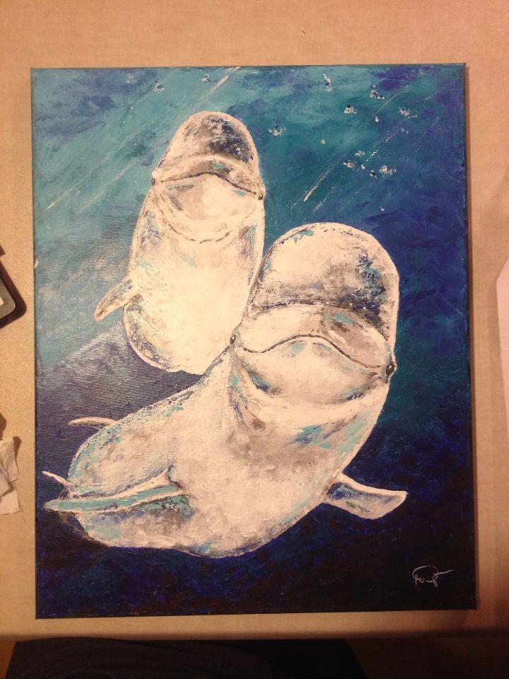 Béluga 2014-11-03, 16x20, acrylique, 200,00$