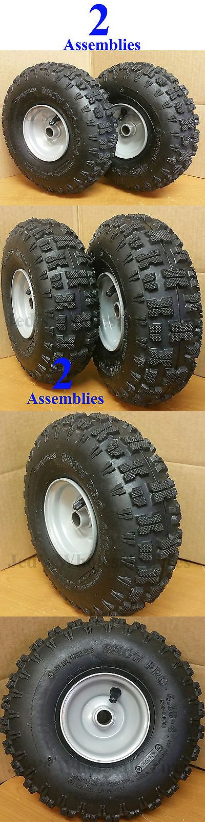Snow Blowers 42230: Two 4.10-4 Snow Blower Thrower Tire Rim Wheel Assembly Kenda Snow Pro Polar Trac -> BUY IT NOW ONLY: $69.95 on eBay!