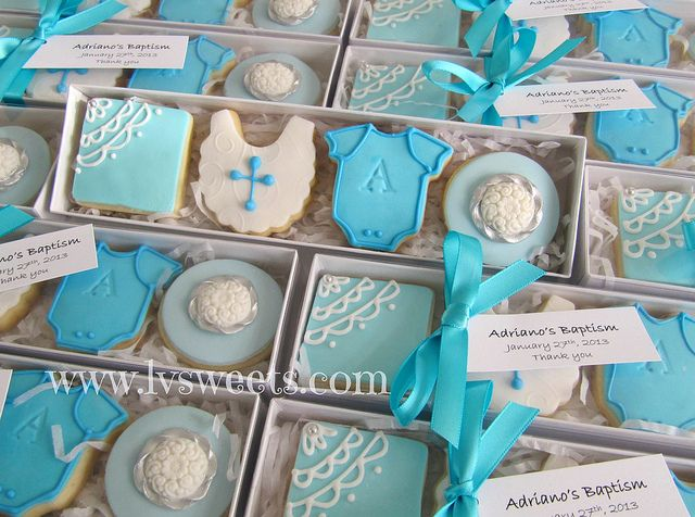 Baptism favors by L sweets, via Flickr