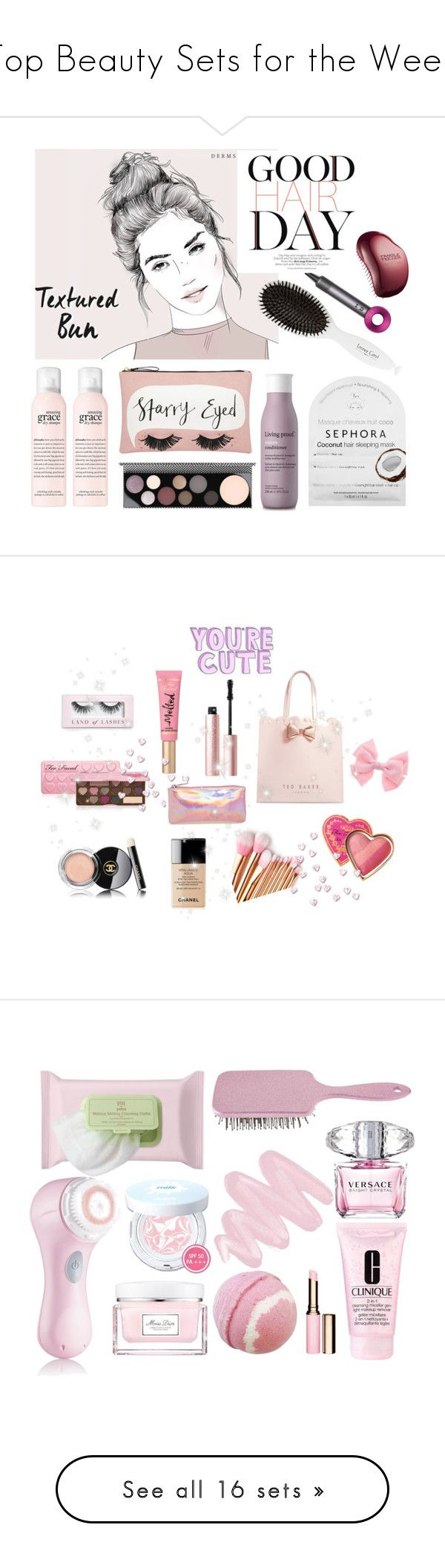 """""""Top Beauty Sets for the Week"""" by polyvore ❤ liked on Polyvore featuring beauty, Accessorize, MAC Cosmetics, Leonor Greyl, Sephora Collection, Living Proof, Dyson, Tangle Teezer, Too Faced Cosmetics and Ted Baker"""