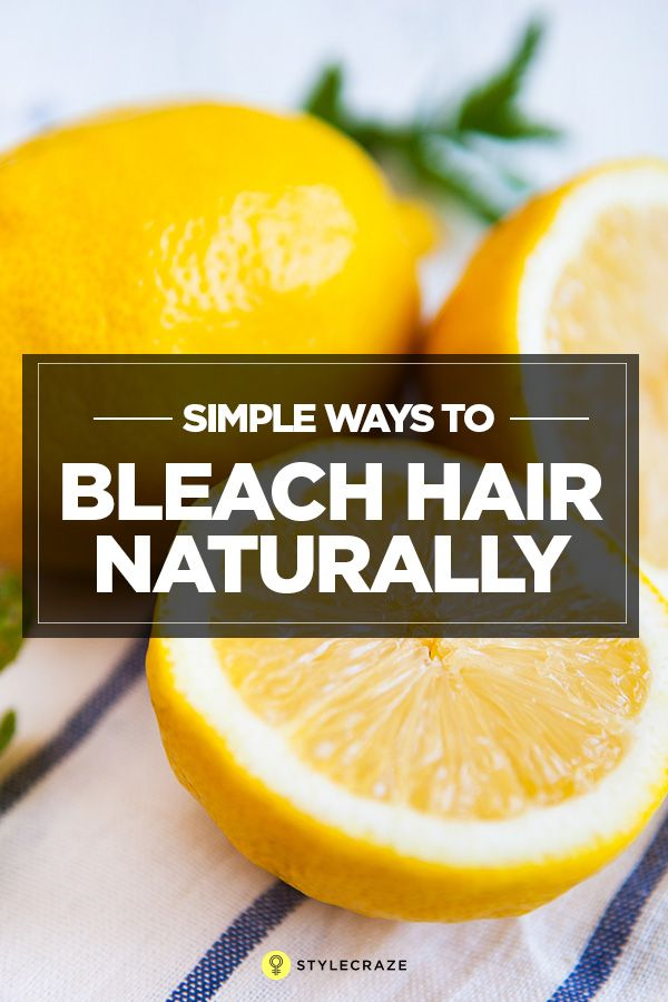 1. Mix two parts of lemon juice with one part of water and sprinkle it on your hair.  2. Then, take a sunbath for good 3 to 4 hours.  This method of hair lightening works quite fast and you will notice results within a week. But, always remember as acids in lemon are slightly stronger and they leave hair dry. So follow it with a good hydrating conditioner after hair wash.