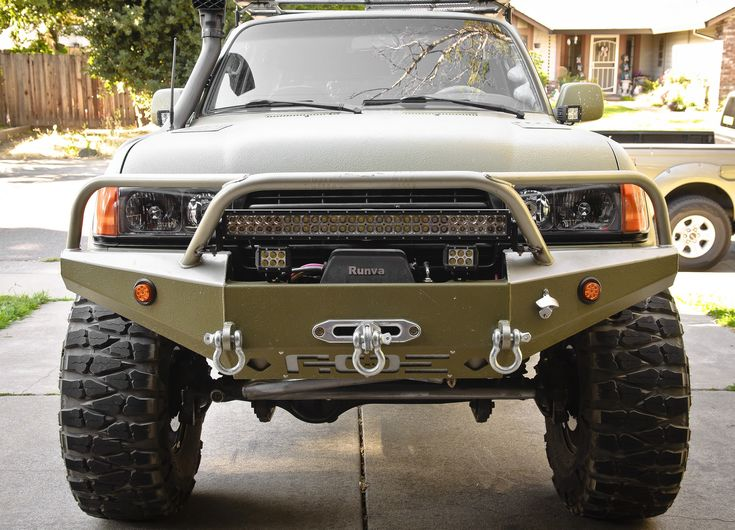 Aoe Bumper On An 80 Lc Truck Bumpers Toyota Lift