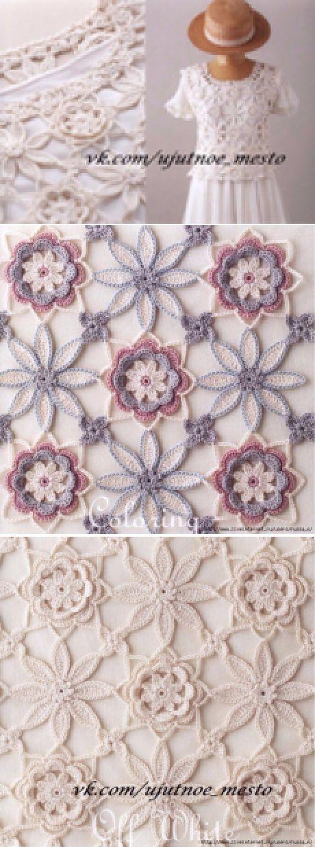 455 best crochet images on Pinterest | Crochet irlandés, Encaje ...