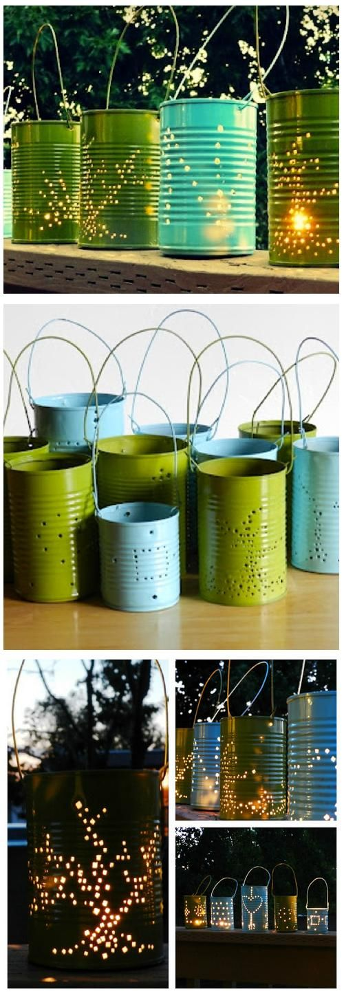 How To Make Tin Like Lantern http://worldingreen.blogspot.com/2013/03/how-to-make-tin-like-lantern.html