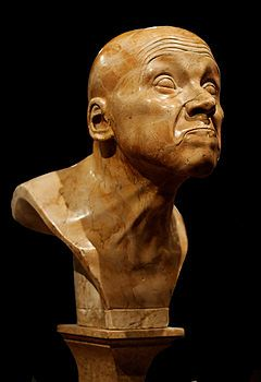 "Character head No. 9 ""Last Degree of innocence"" by Franz Xaver Messerschmidt (1736 - 1783) - Wikipedia (French)"