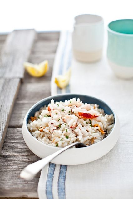 Lobster Risotto with Chanterelles: Beef Wine, Chanterel Lobsters, Health Food, Lobsters Risotto, Lobster Risotto, Lobsters Recipe, Cooking Tips, Chanterell Lobsters, Risotto Recipe