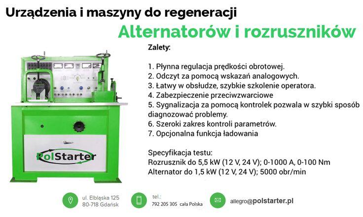 ⚫ Prezentujemy kolejną maszynę do regeneracji alternatorów i rozruszników firmy PolStarter 👍😊🔧🔩  ⚫ Zapraszamy do odwiedzenia naszych aukcji w serwisie allegro:  ➜ http://allegro.pl/listing/user/listing.php?us_id=22287661  ✔ Odwiedź naszą stronę internetową i sklep internetowy: ➜ www.polstarter.pl ➜ www.sklep.polstarter.pl  ⚫ KONTAKT: 📲 792 205 305 ✉ allegro@polstarter.pl  #rozrusznik #alternator #rozruszniki #alternatory #samochód #samochody #motoryzacja #części #samochodowe #oferta