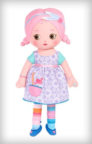 Niva™ loves to write. Poems and songs and letters to her best friends, Niva is all about words. Join hands with Sing Around the Rosie™ Niva™ to hear her sing! Includes: Paper doll chainGiftable box