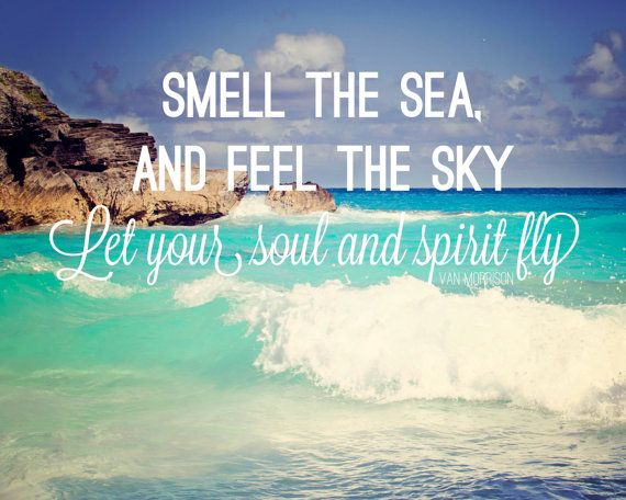 inspirational quote ocean photography song lyrics wall