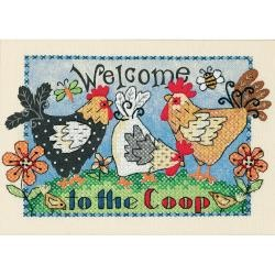 Welcome To The Coop Mini Stamped Cross Stitch Kit-7