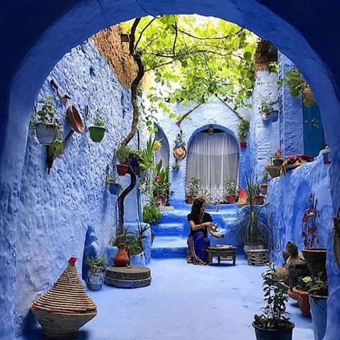Chefchaouen, Morocco Photo by @jusrunning