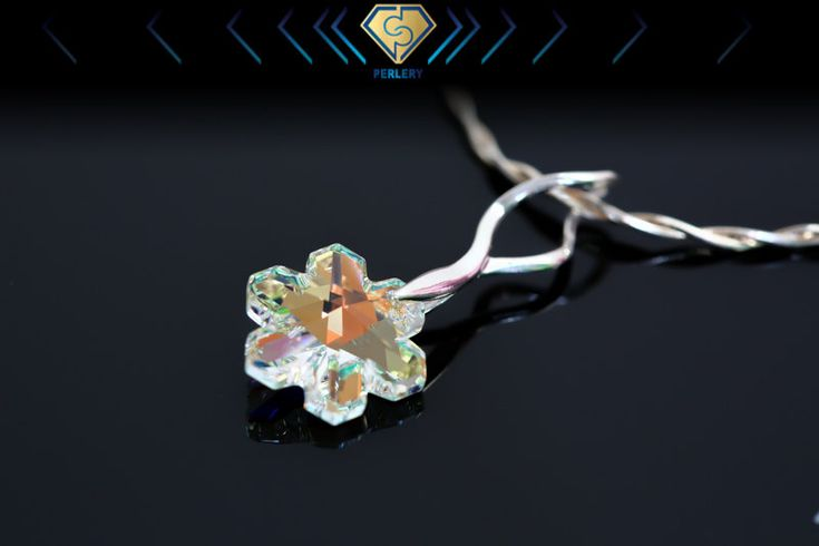 Swarovski Snowflake Crystal Pendant.Perfect Christmas Gift For Her. Swarovski Pendant. by Perlery on Etsy