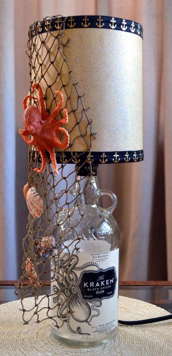 Best 25 wine bottle lamps ideas on pinterest for Cool wine bottle ideas