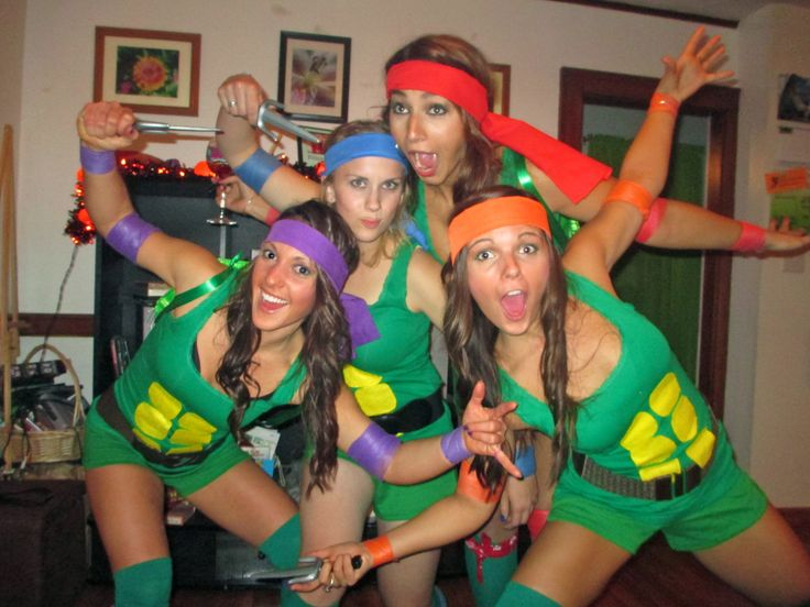 home made halloween costumes teenage mutant ninja turtles tmnt leonardo donatello - Cheap Home Made Halloween Costumes