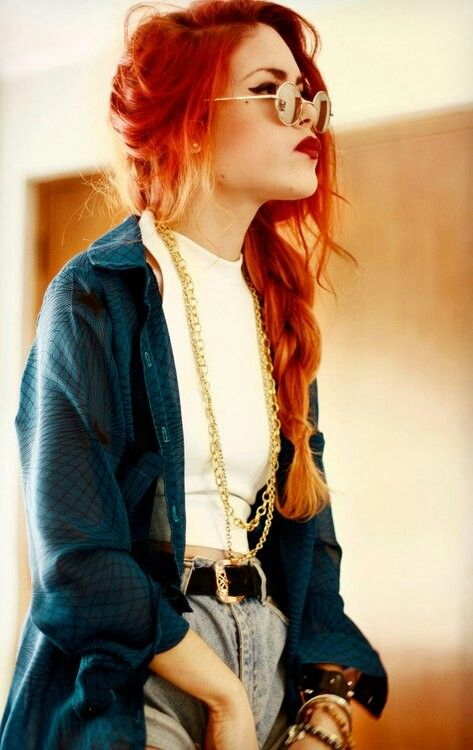 Luanna Perez vintage outfit  Long red hair