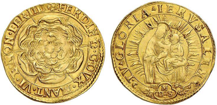 NumisBids: Nomisma Spa Auction 50, Lot 116 : MANTOVA Ferdinando Gonzaga (1612-1626) Zecchino detto della rosa –...