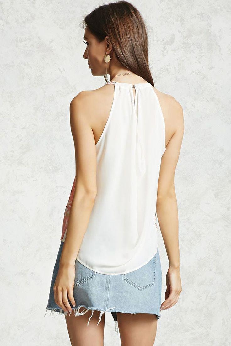Top Flores Hombros Descubiertos - Mujer - Blusas - Blusas + Camisas - 2000101897 - Forever 21 EU Español