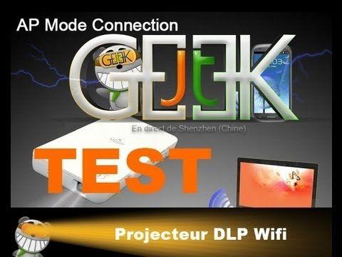 Test projecteur Portable wifi par GLG du JT du JT Geek