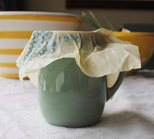 Bee's wrap, beeswax-infused cloth to wrap you food & its washable/reusable.