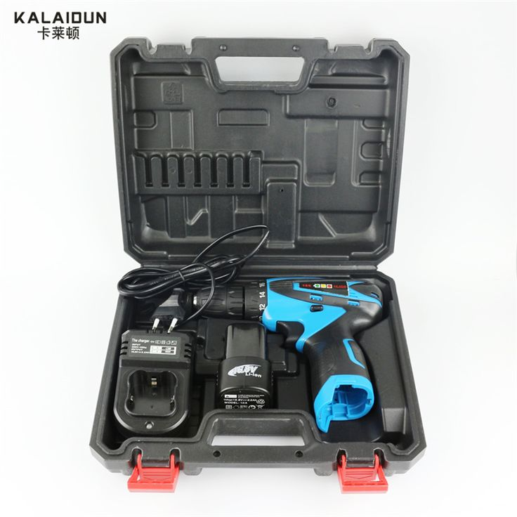 KALAIDUN 16.8V Electric Drill Mobile Power Tools Electric Screwdriver Lithium Battery Cordless Impact Drill With Extra Toolbox