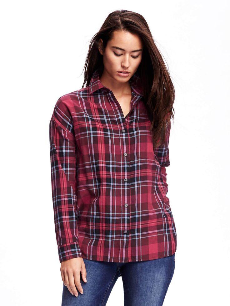 old navy boyfriend flannel shirt M