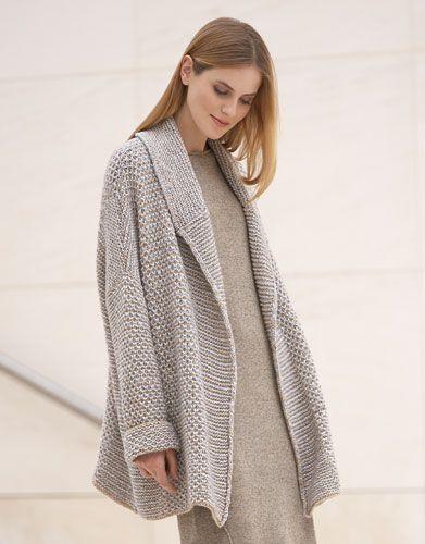 Revista mujer Concept 1 Otoño / Invierno   1: Mujer Abrigo   Gris claro / Beige