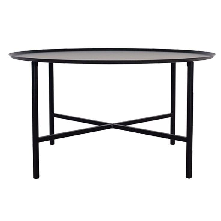 Domo Round Cross bord L, svart i gruppen Møbler / Bord / Sofabord hos ROOM21.no (1023815)