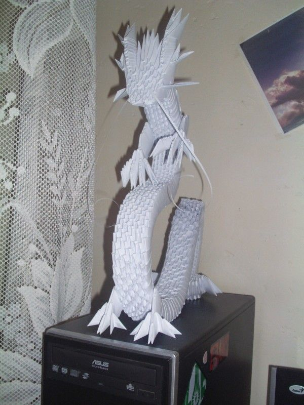 how to make 3d paper dragons