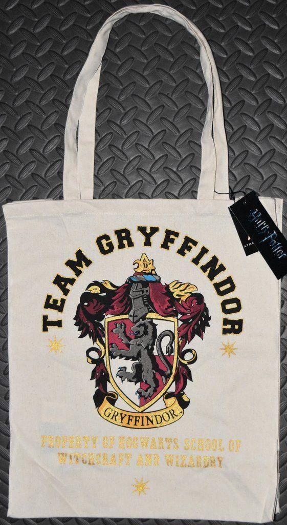 Harry Potter Team Gryffindor Primark CANVAS TOTE SHOPPER SHOPPING SHOULDER BAG