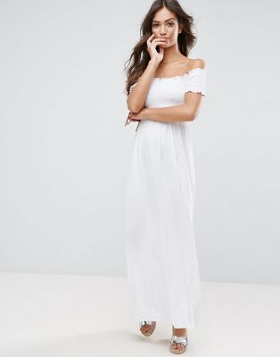 ASOS | ASOS Off Shoulder Maxi Sundress with Shirring