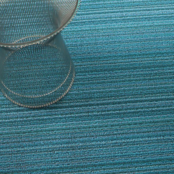 Skinny Stripe Shag Floor Mat