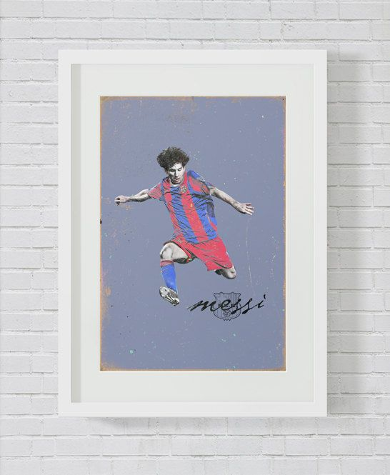 Lionel Messi. History ballon d'Or. Football Print.