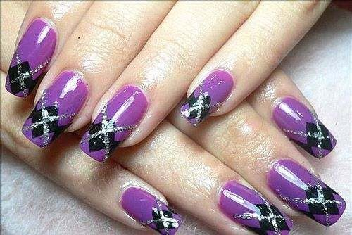 argyle nails!  cool!