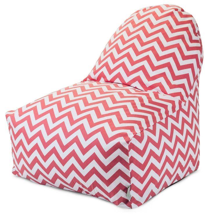 Coral Chevron Kick-It Chair