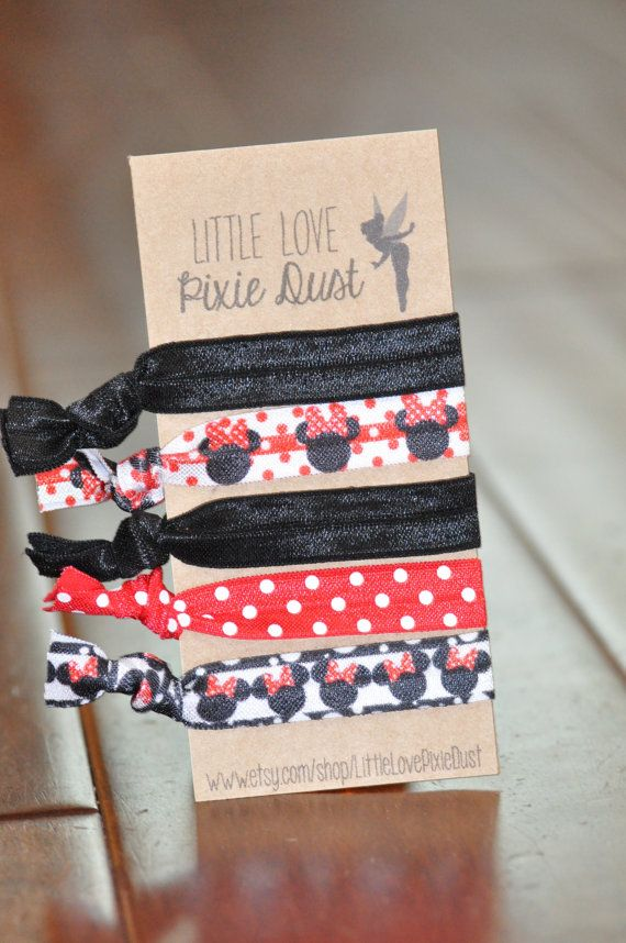Minnie Mouse {No crease} Elastic Hair ties {Fish Extender gifts}