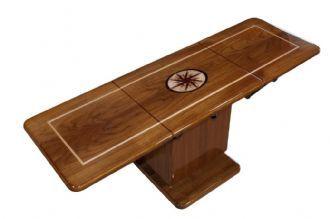 Mariner mar 1648 hi lo marine teak table simple living for Table 6 usmc