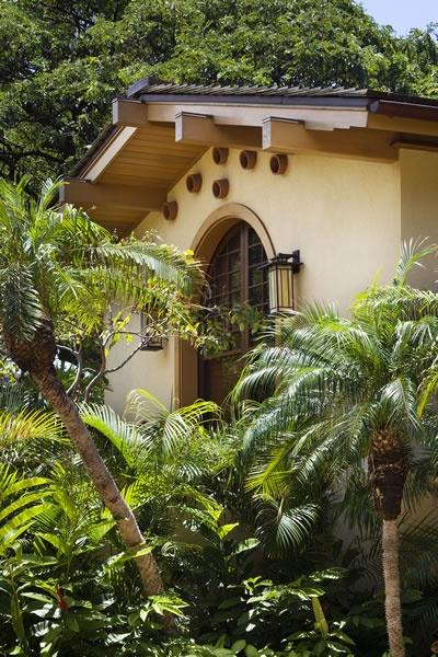 craftsman gable meets tropical design