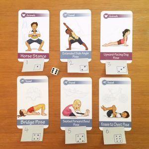 Yoga card game using dice | Kids Yoga Stories